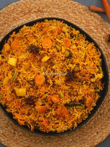 output one pot vegetable dum biryani