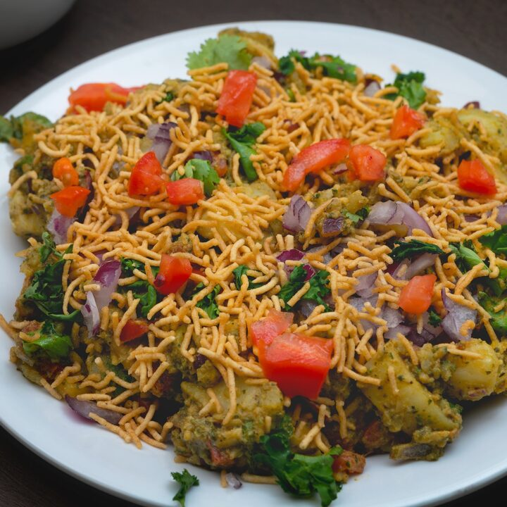 Final output of aloo chaat recipe