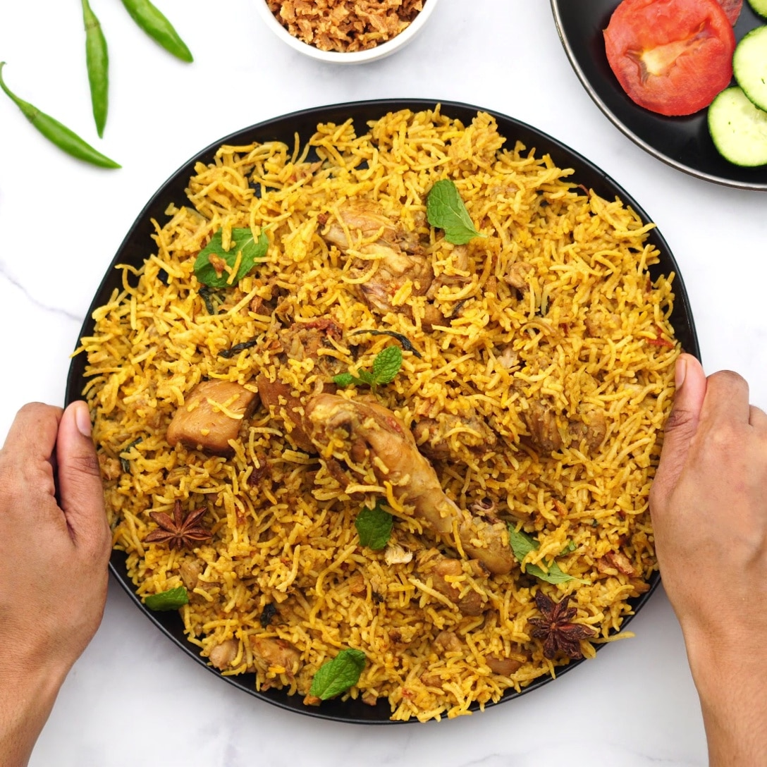 service south indian chicken biryani