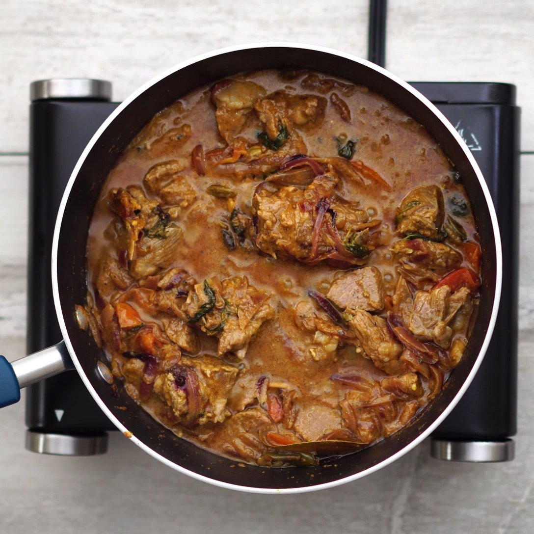 Cooking mutton until it is soft