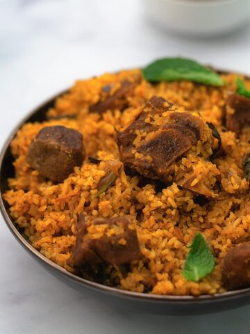 South Indian Mutton Biryani In Seeraga Samba Rice