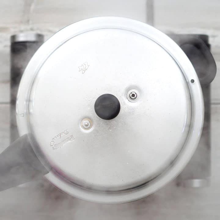 Cooking in pressure cooker