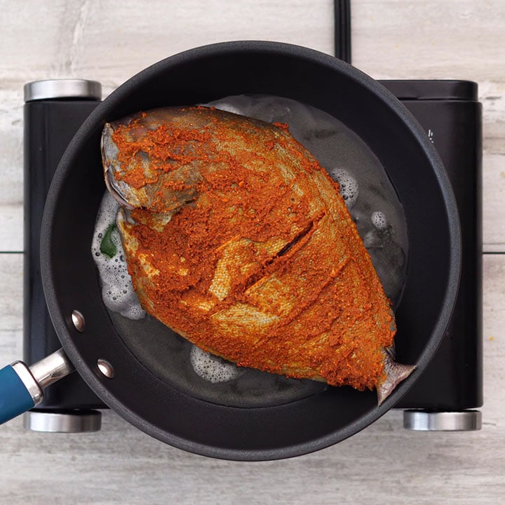 Frying the fish