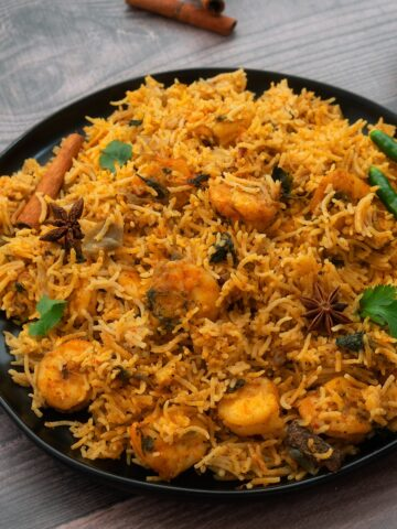 Output of Shrimp/Prawn Biryani, Eral Biriyani