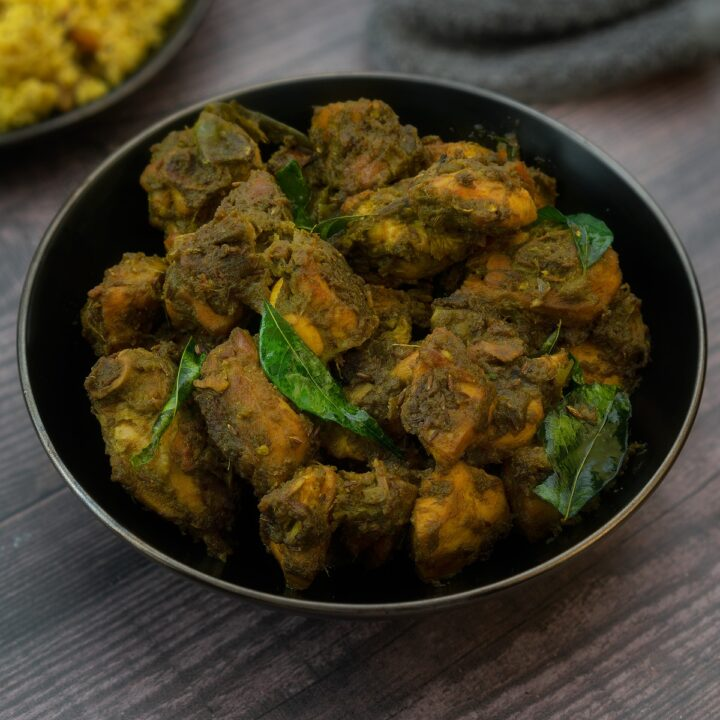 Spicy Andhra Green Chilli Chicken Dry/Fry