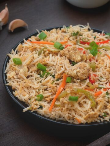 Indian Vegetable Egg Fried Rice Street Style