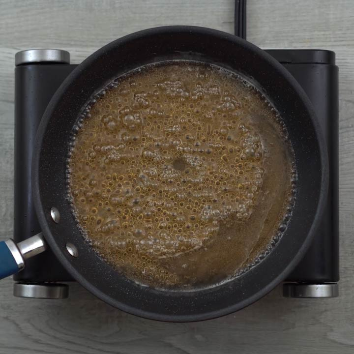 boiling of sugar syrup