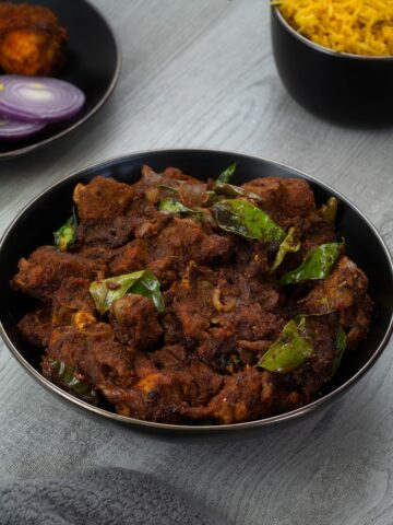 Authentic Chettinad Mutton Chukka