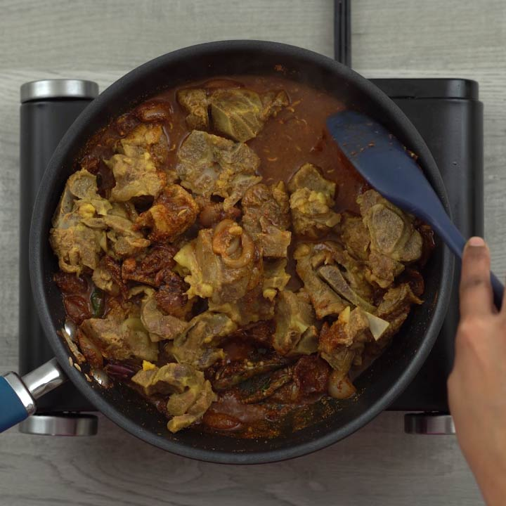 Mixing mutton with Chettinad spices