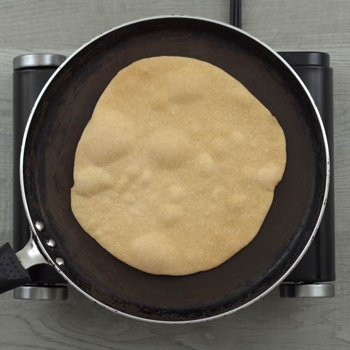 bubbles in roti