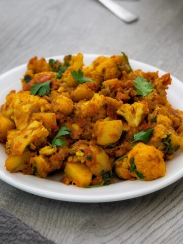 Indian Aloo Gobi Masala | Potato Cauliflower Dry