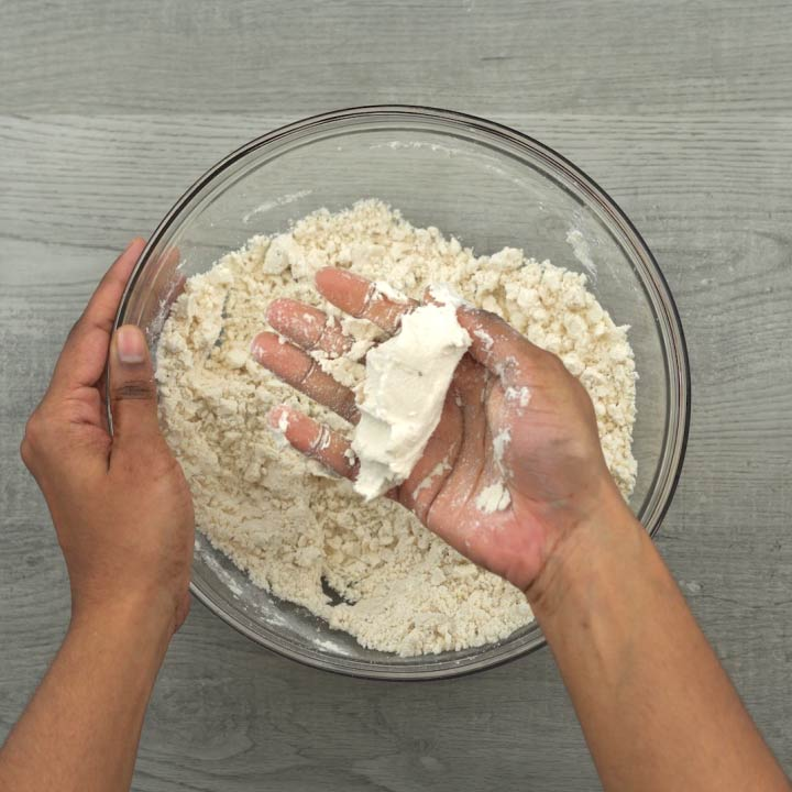 dough holds shape after adding oil