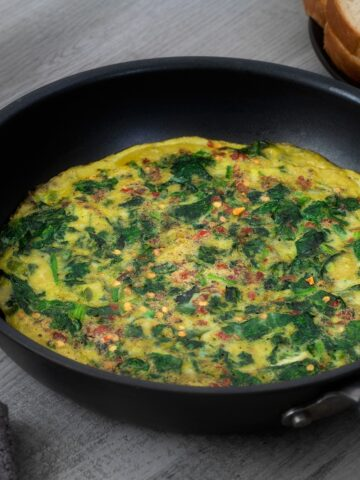 Spinach Omelette | Easy and Healthy Omelet