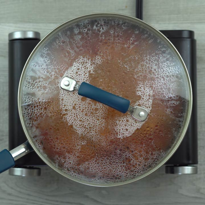 cooking again with lid closed