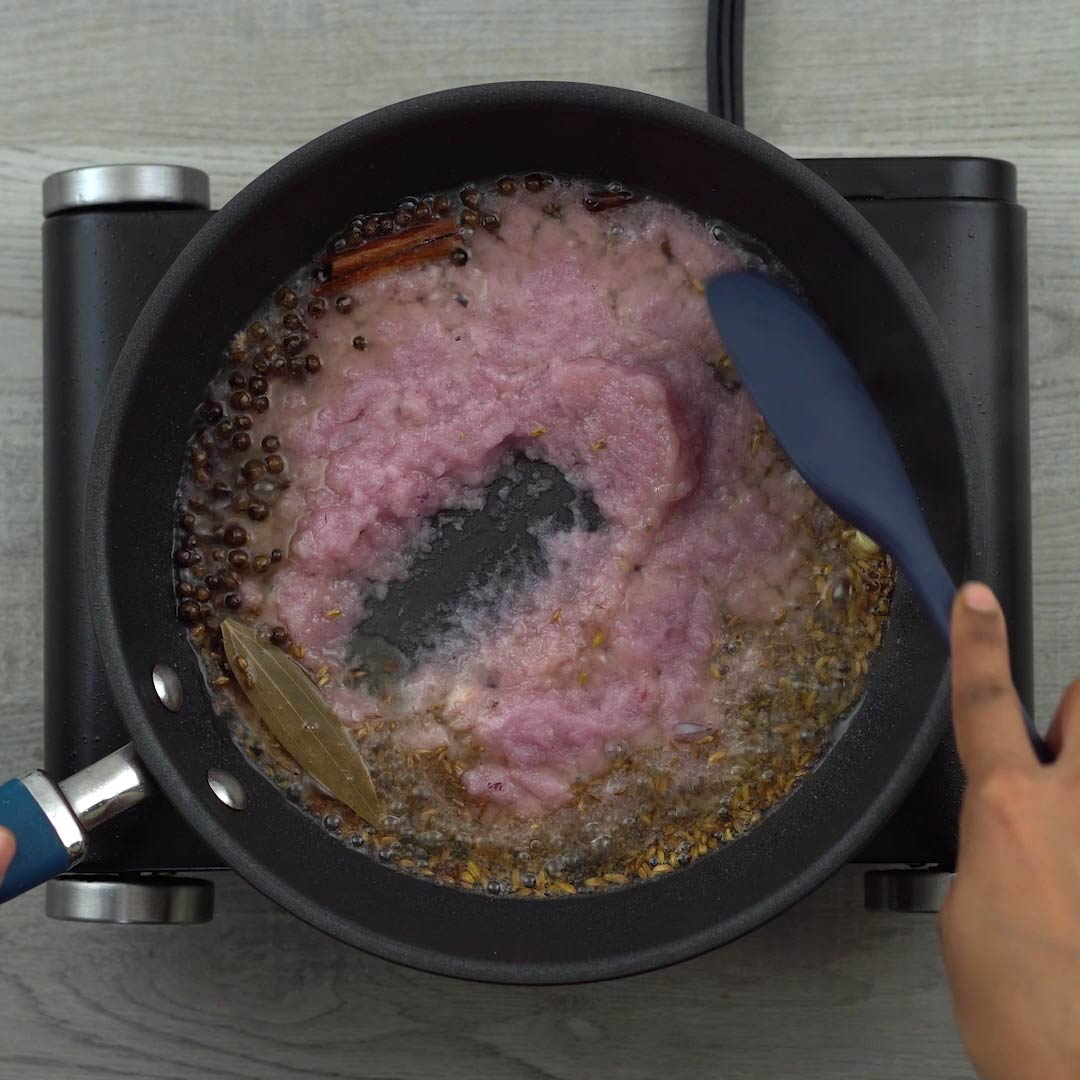 sauteing onions until raw aroma disappears