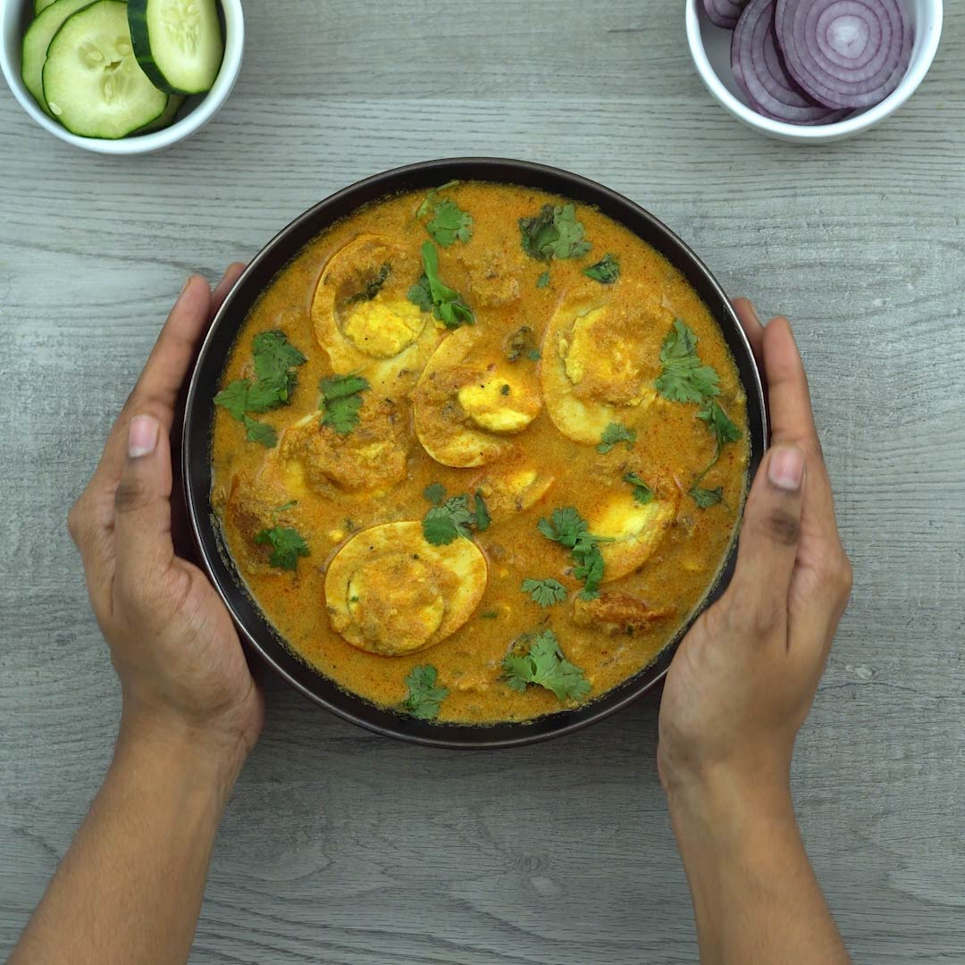 Serving Egg Curry