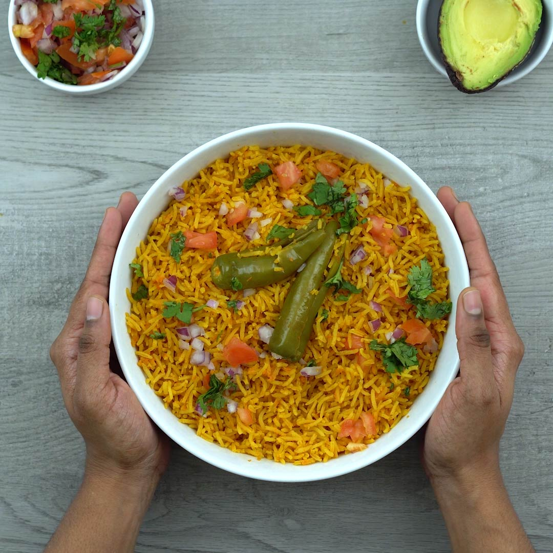 Serving Mexican/Spanish Rice