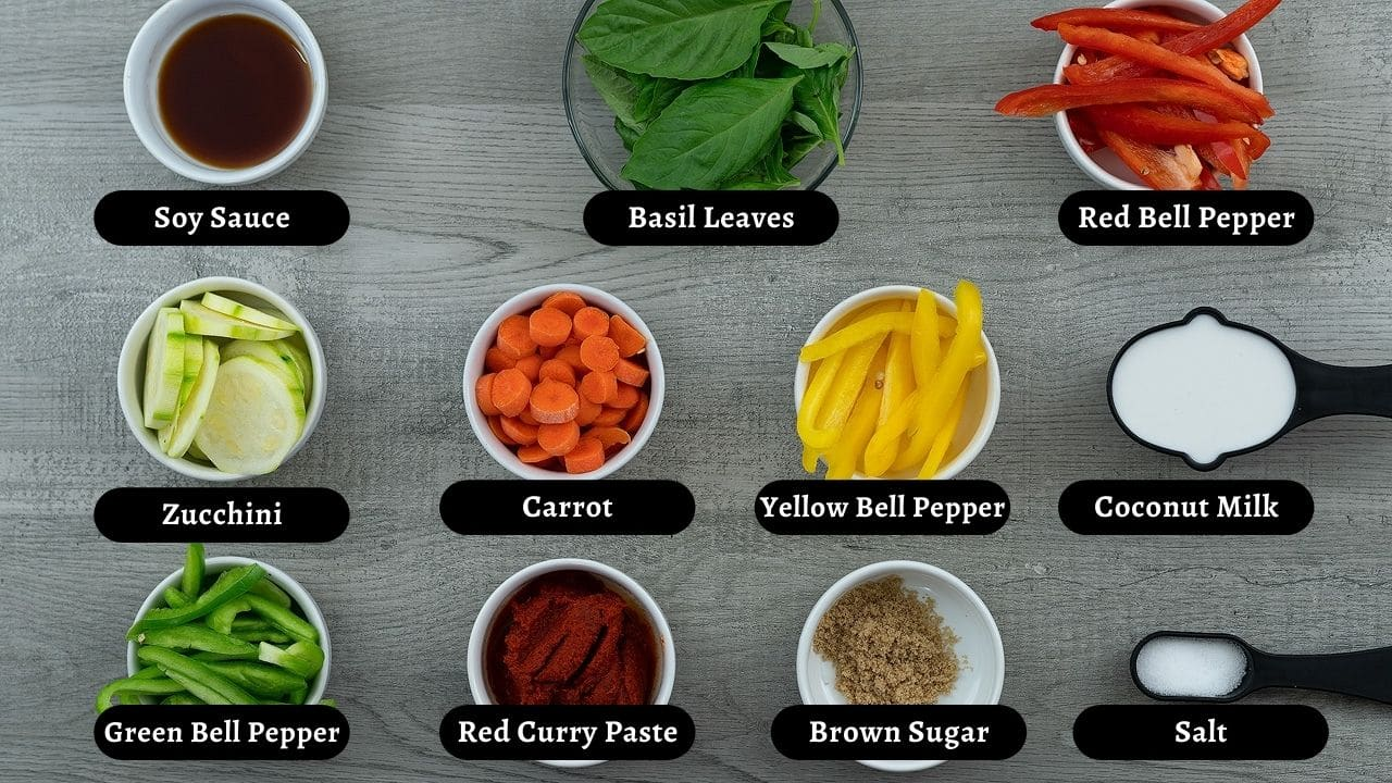 Thai Red Curry Ingredients