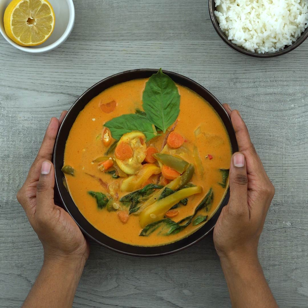 Serving Thai Red Curry