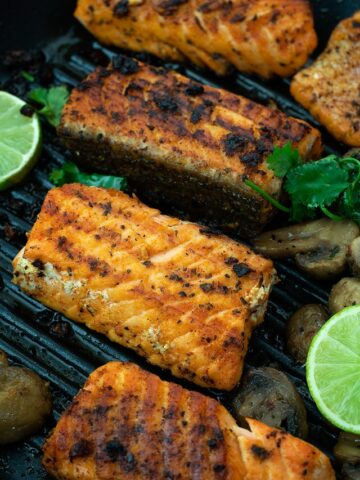 Grilled Salmon on a plat