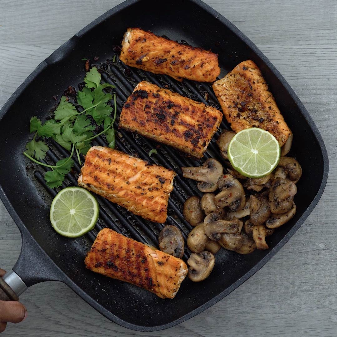 Serving Grilled Salmon